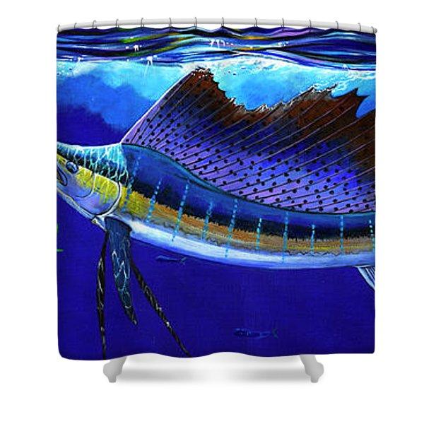 Sailfish Commotion Shower Curtain