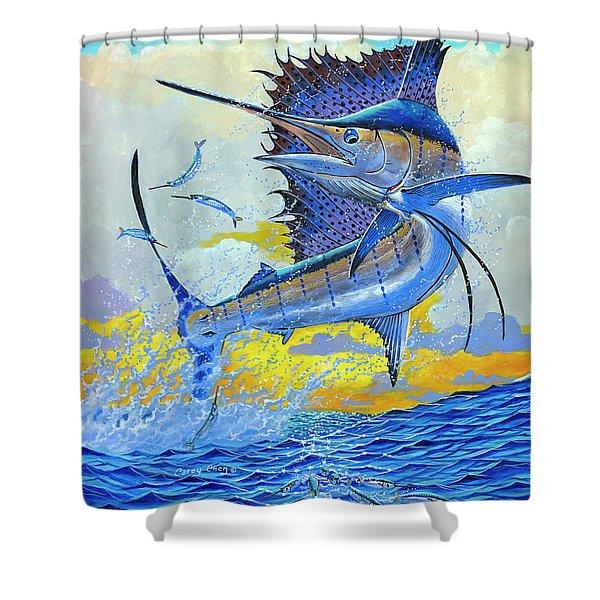 Sailfish Sunset Off00160 Shower Curtain