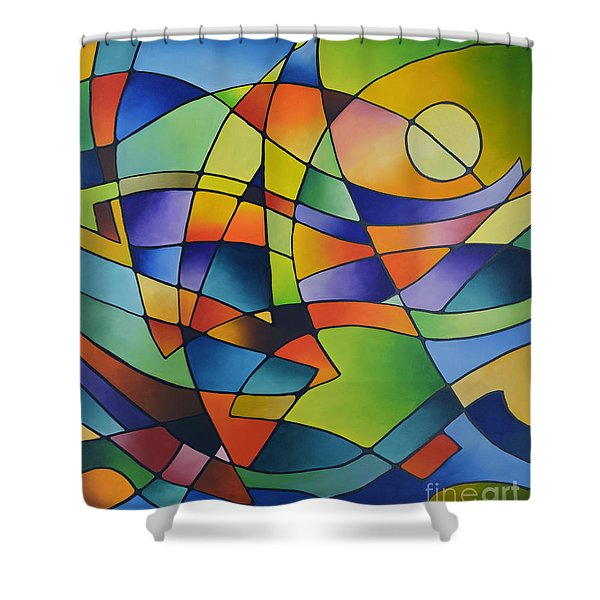 Sailing Away, Canvas Two Shower Curtain