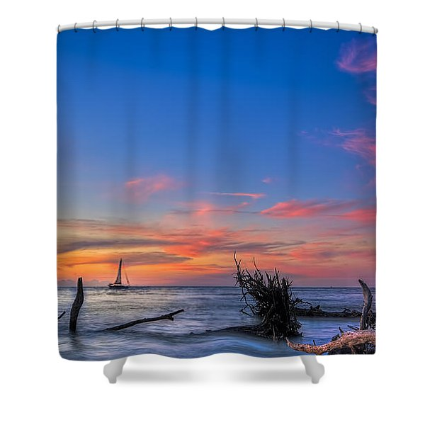 Sailing Hazard Shower Curtain