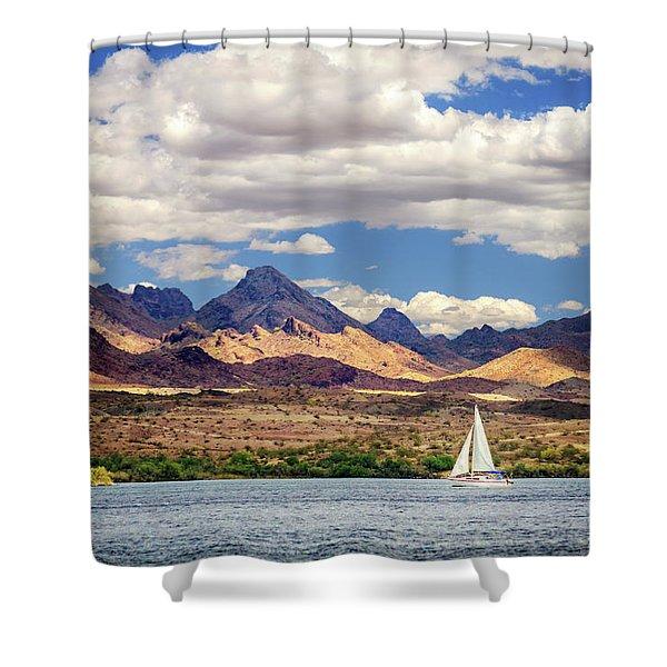 Sailing In Havasu Shower Curtain
