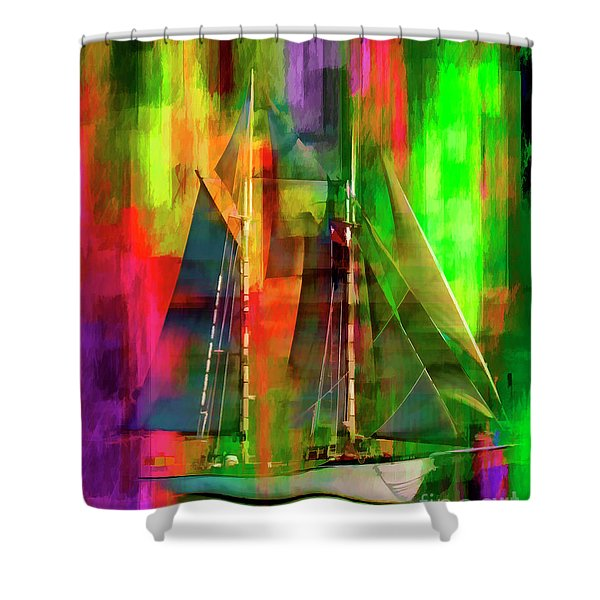Sailing In The Abstract 2016 Shower Curtain