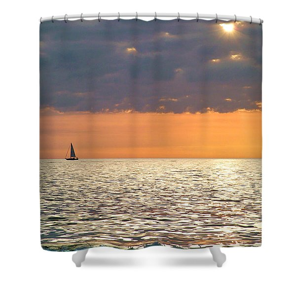 Sailing In The Sun Shower Curtain