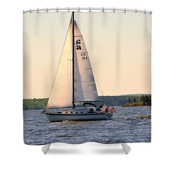 Sailing On Lake Murray Sc Shower Curtain