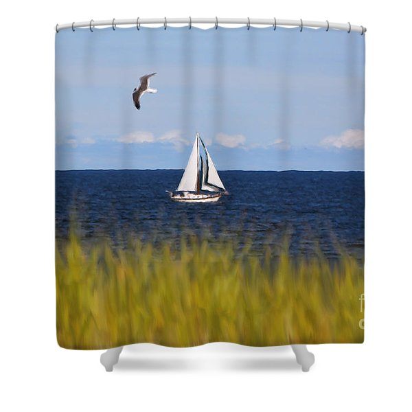 Sailing On Long Beach Island Shower Curtain