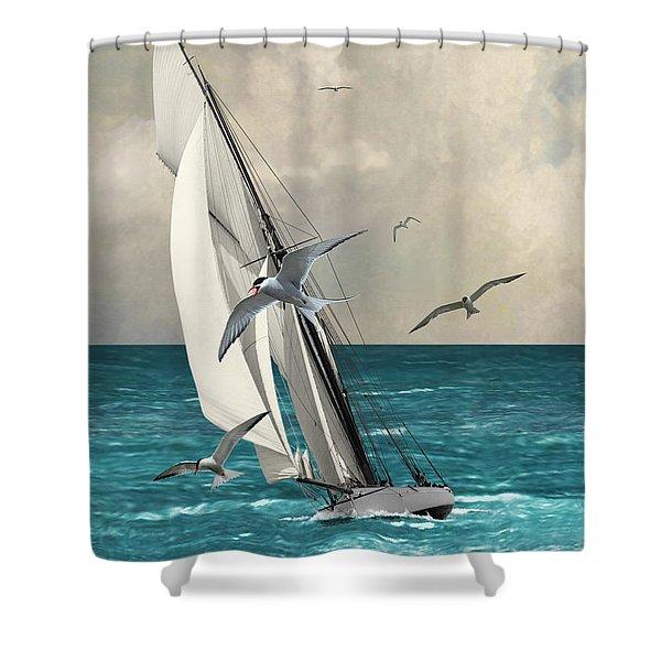 Sailing Southern Seas Shower Curtain