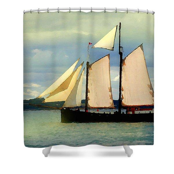 Sailing The Sunny Sea Shower Curtain