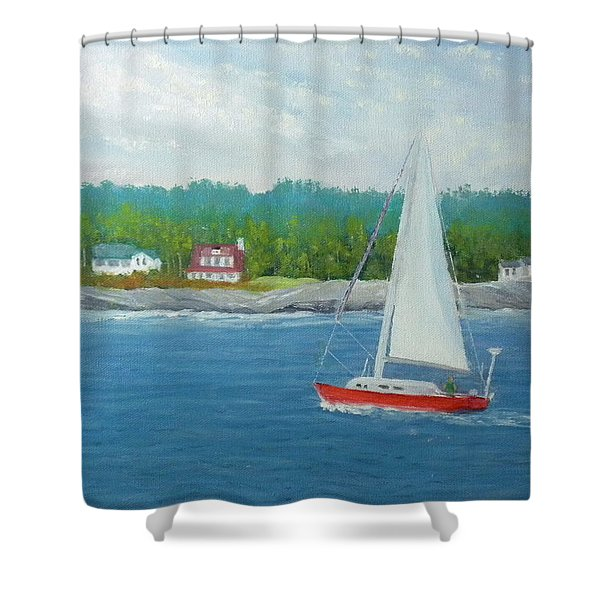 Sailing To New Harbor Shower Curtain