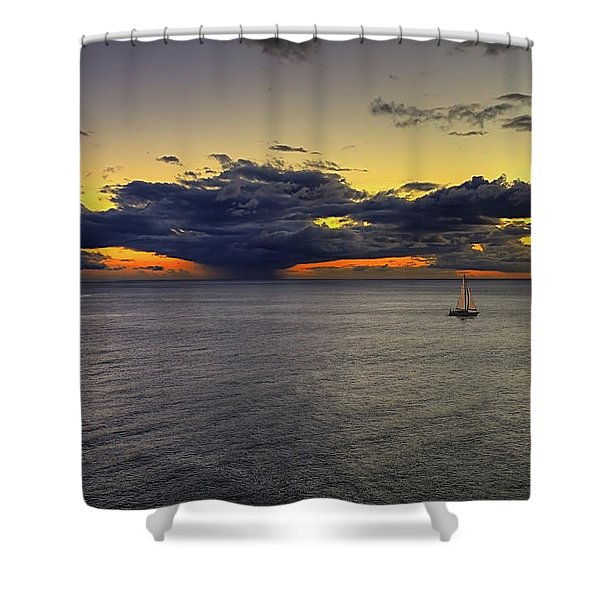 Sailing To Sunset Shower Curtain
