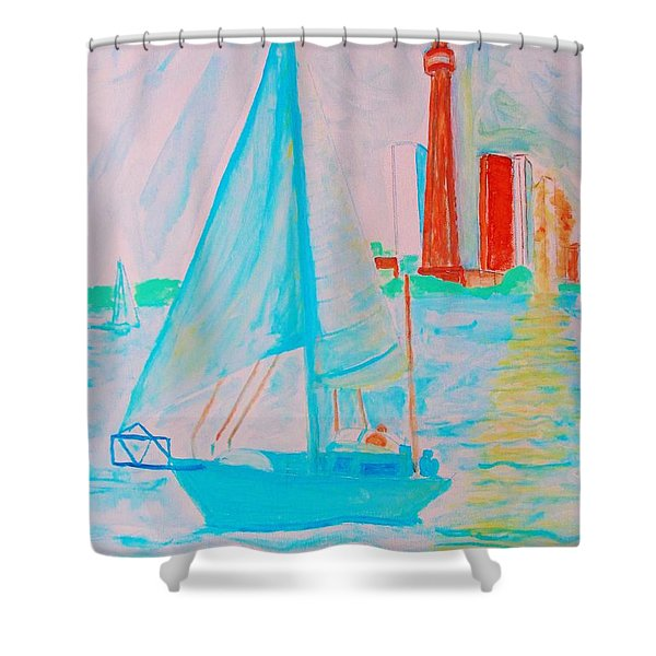 Sailing Toronto, Canada Shower Curtain