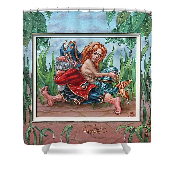 Sailor And Mermaid Shower Curtain