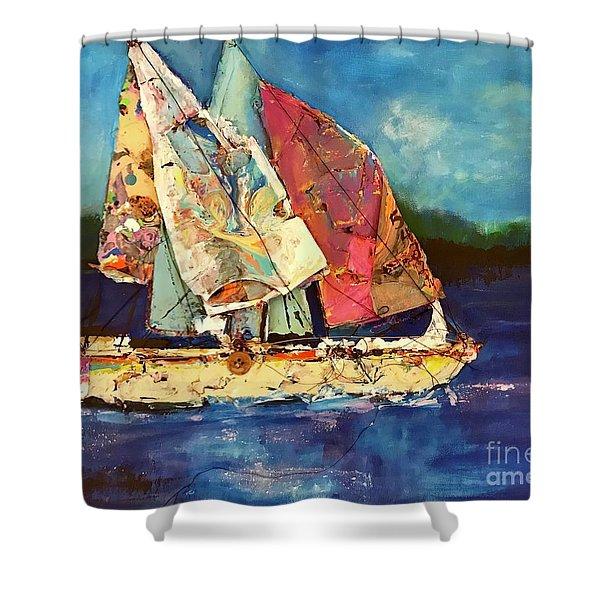 Sails Away Shower Curtain