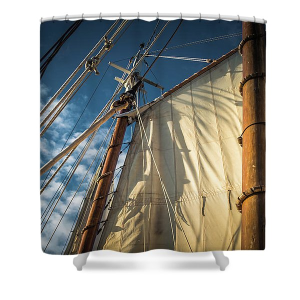 Sails In The Breeze Shower Curtain