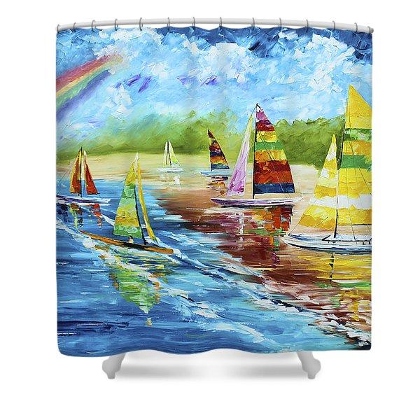 Sails On The Beach Shower Curtain