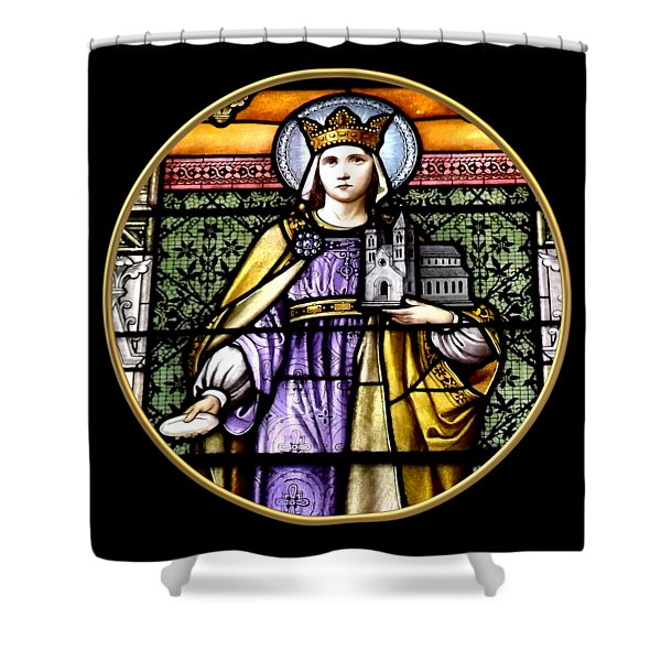 Saint Adelaide Stained Glass Window In The Round Shower Curtain