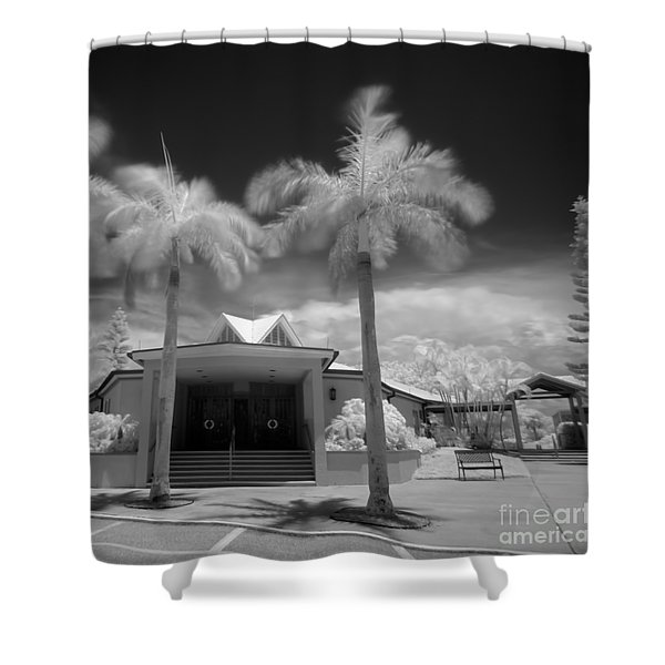 Saint Bernard Church In Holmes Beach On Anna Maria Island Shower Curtain