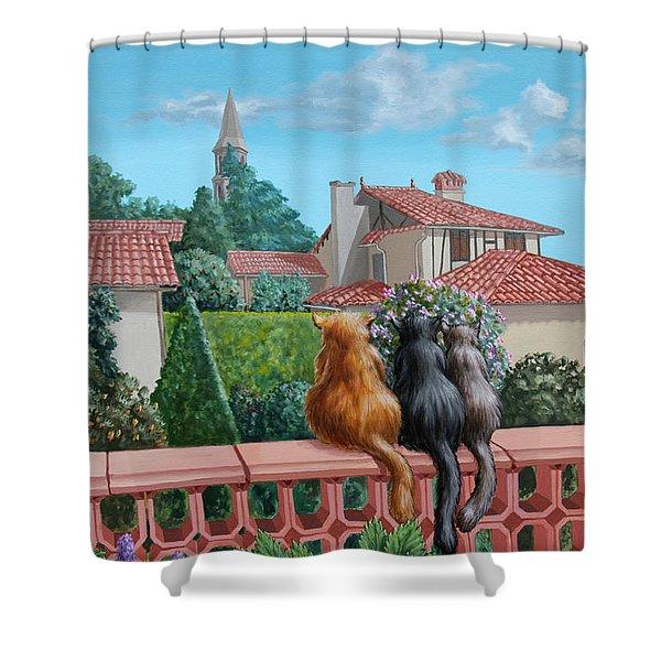 Saint-frajou. August. Shower Curtain