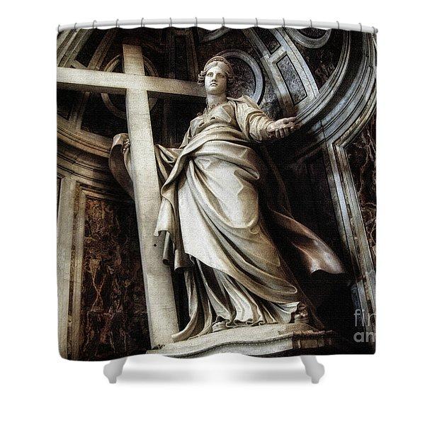 Saint Helena Statue Inside Saint Peter S Basilica Rome Italy Shower Curtain