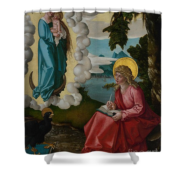 Saint John On Patmos Shower Curtain