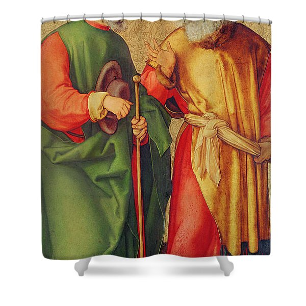 Saint Joseph And Saint Joachim Shower Curtain