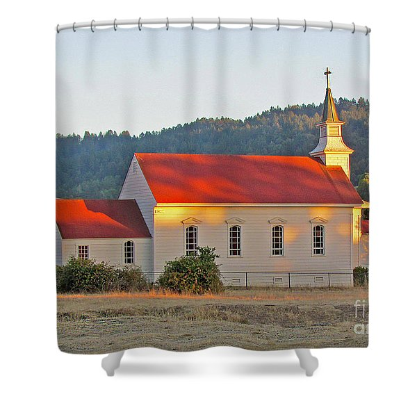 St. Mary's Church At Sunset Shower Curtain