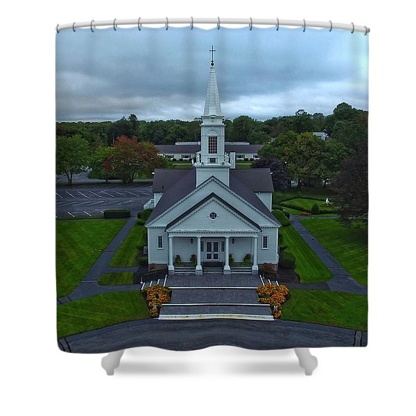 Saint Mary's Church From Above Shower Curtain