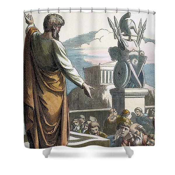 Saint Paul At Athens Shower Curtain