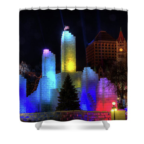 Saint Paul Winter Carnival Ice Palace 2018 Lighting Up The Town Shower Curtain