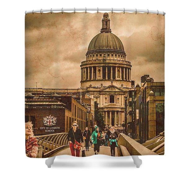 London, England - Saint Paul's In The City Shower Curtain