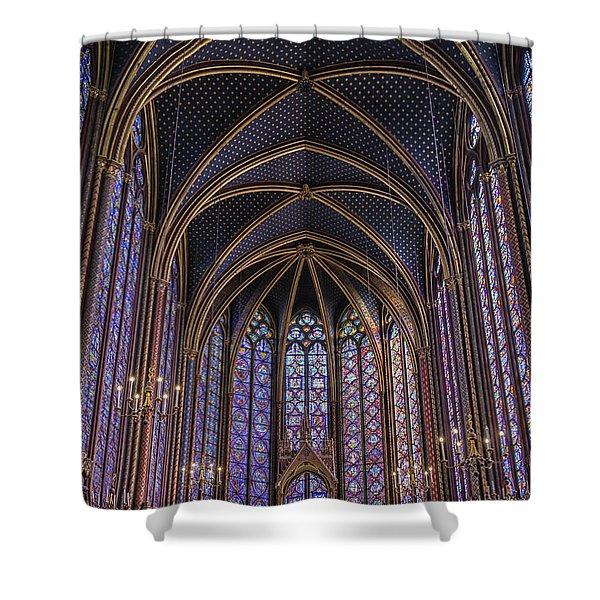 Sainte Chapelle Stained Glass Paris Shower Curtain