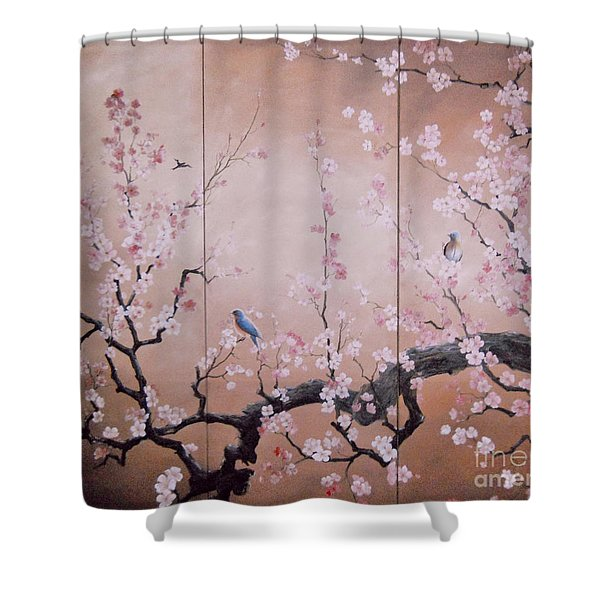 Sakura - Cherry Trees In Bloom Shower Curtain