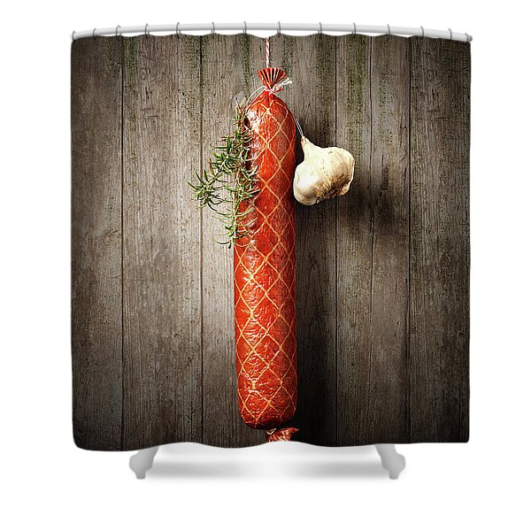 Salami Sausage  Shower Curtain