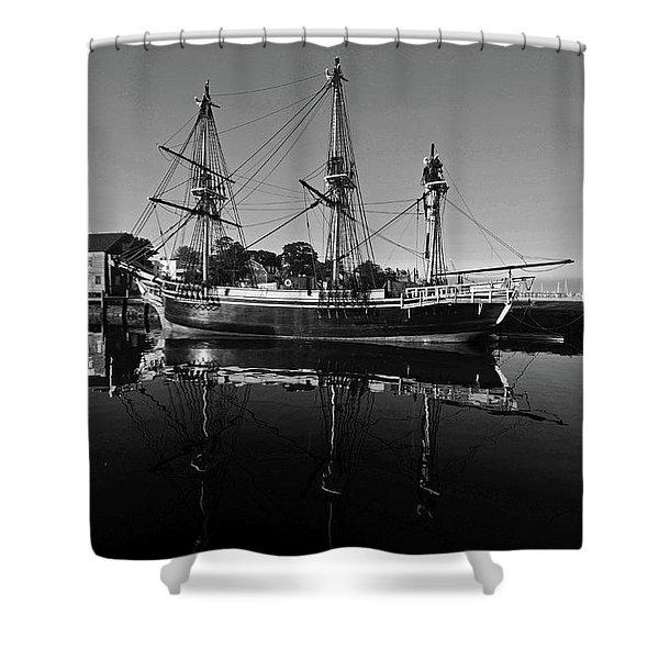 Salem Friendship Reflection Black And White Shower Curtain