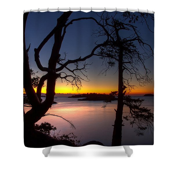 Shower Curtain featuring the photograph Salish Sunrise by Randy Hall