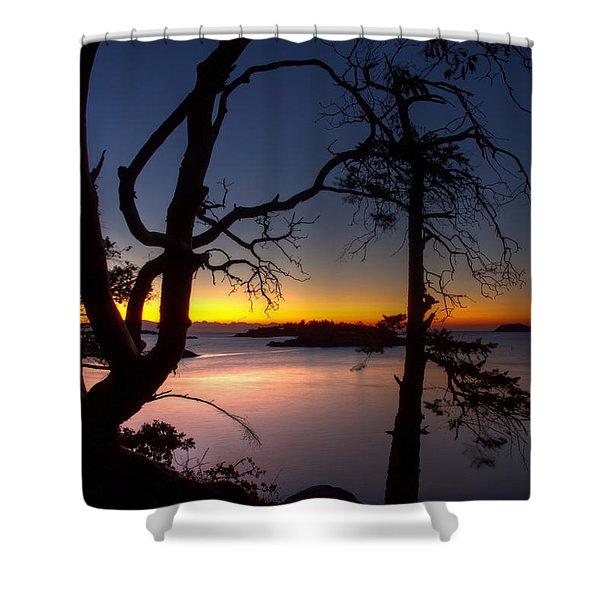 Salish Sunrise Shower Curtain
