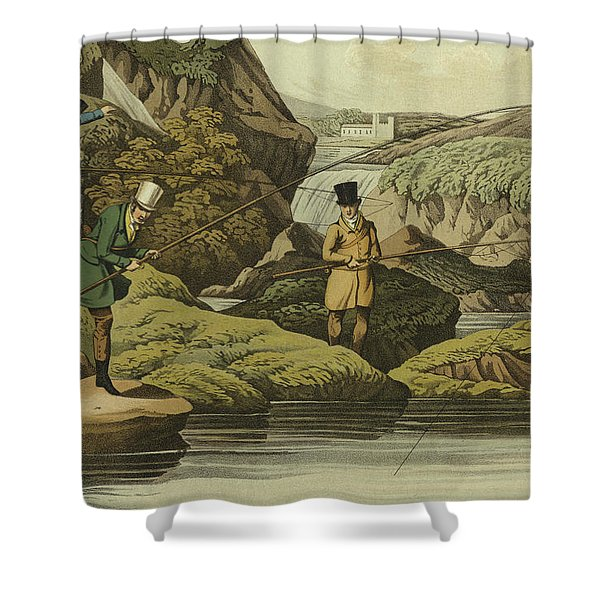 Salmon Fishing Shower Curtain
