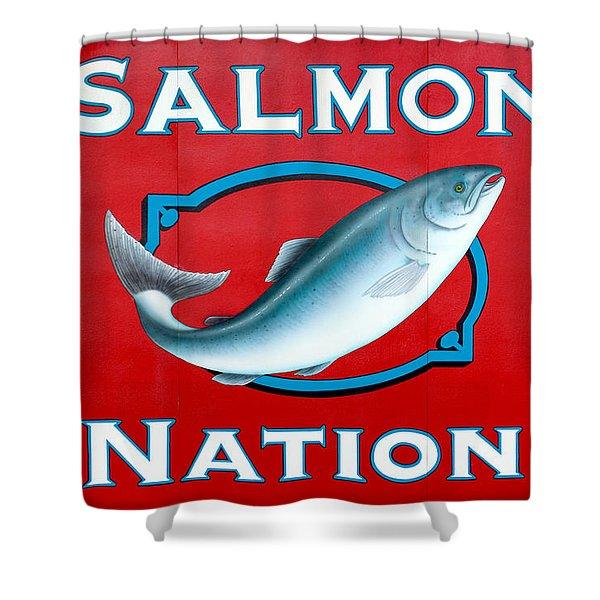 Salmon Nation Shower Curtain