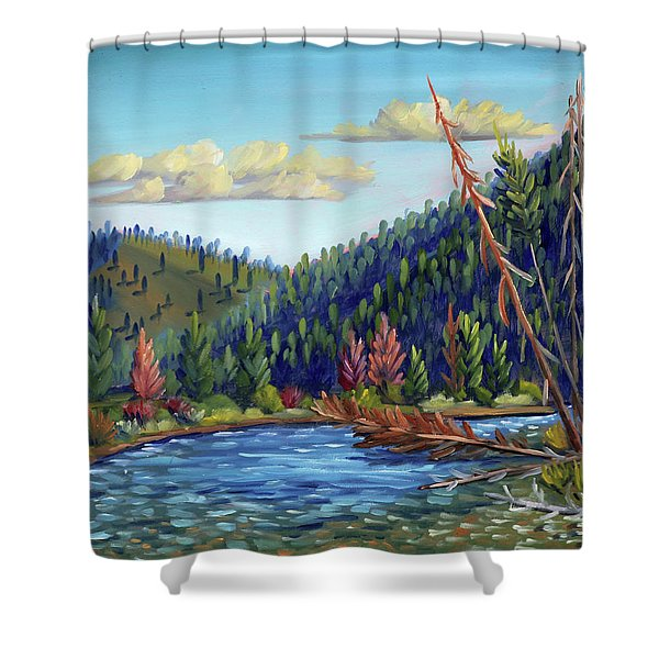 Salmon River - Stanley Shower Curtain
