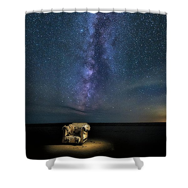Salt Flats Milky Way Chair Shower Curtain