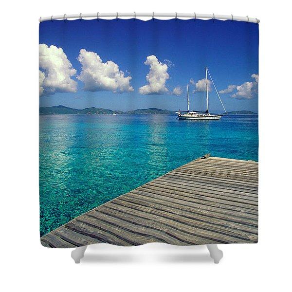 Salt Island Ancorage Shower Curtain