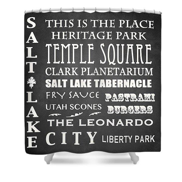 Salt Lake City Famous Landmarks Shower Curtain