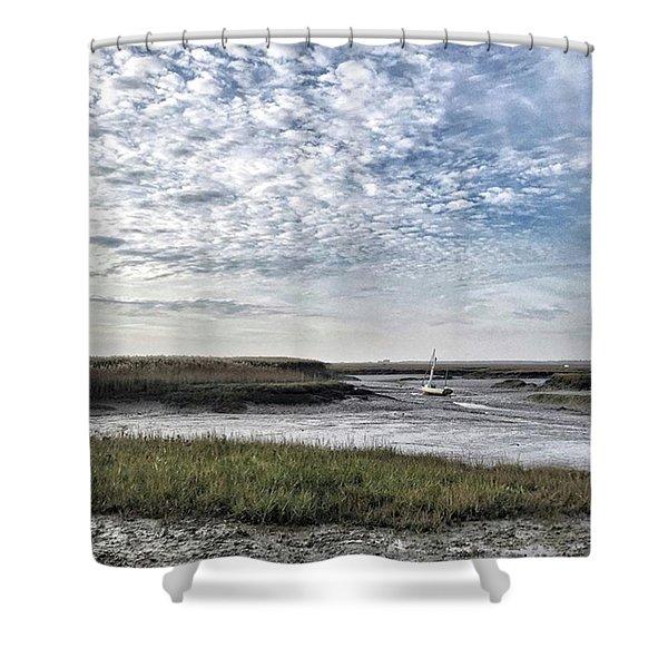 Salt Marsh And Creek, Brancaster Shower Curtain
