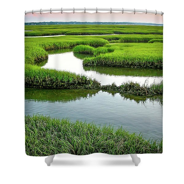 Salt Marsh Shower Curtain