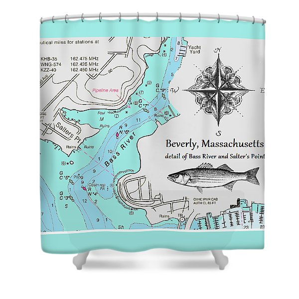 Salter's Point Map Shower Curtain