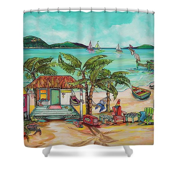 Salty Kisses And Star Fish Wishes Shower Curtain