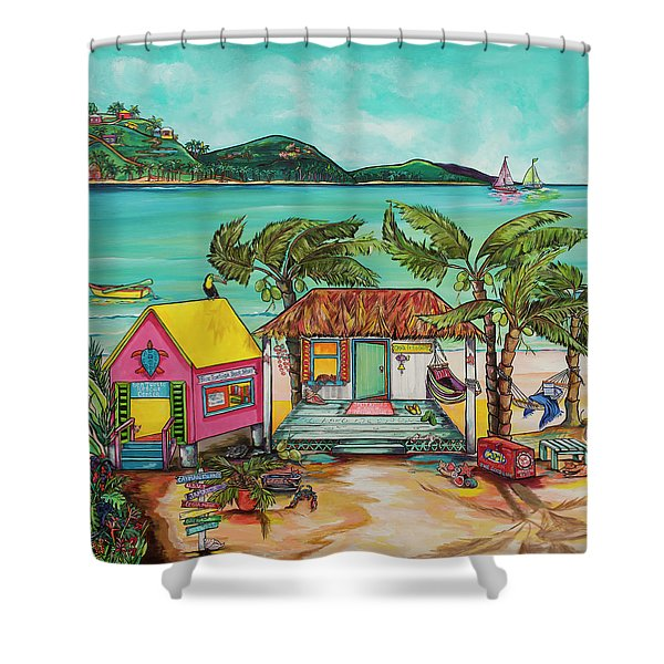 Salty Kisses Smaller Version Shower Curtain