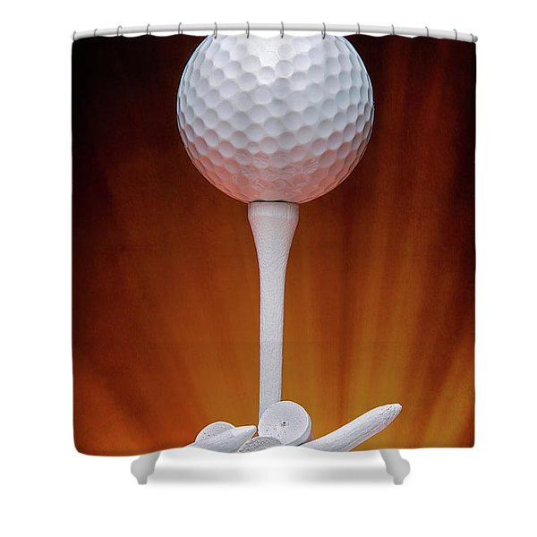Salute To Golf Shower Curtain