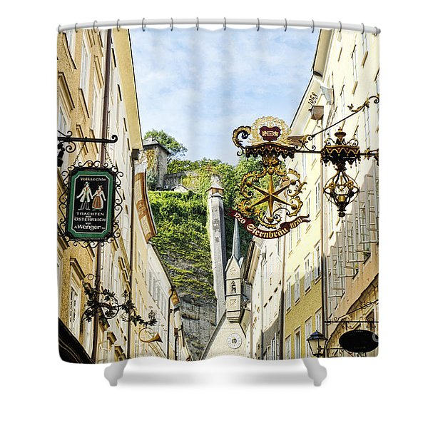 Salzburg Shopping Shower Curtain
