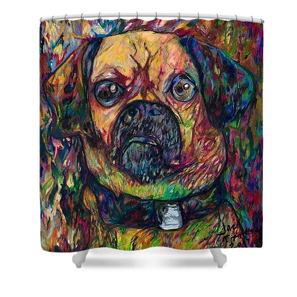 Sam The Dog Shower Curtain