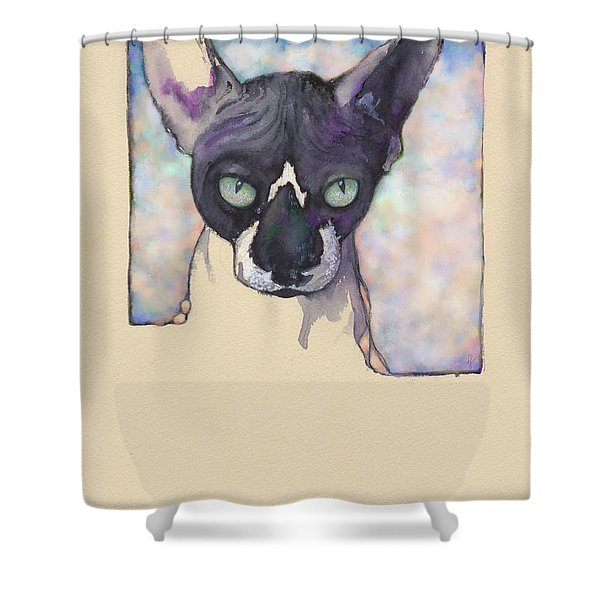 Sam The Sphynx Shower Curtain